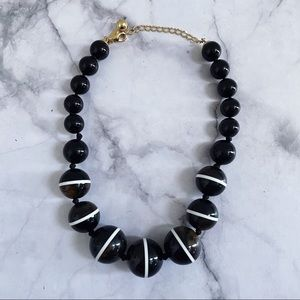 kate spade black white bauble statement necklace